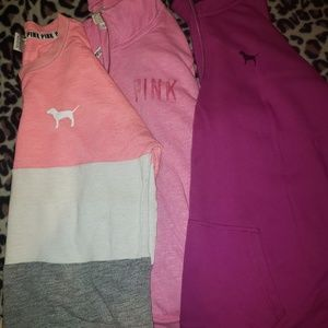 Victoria Secret  Sweat Jackets ** BUNDLE OF 3 **
